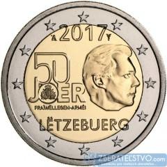 Luxembursko - 2 Euro 2017 - 50. výročie dobrovoľnej vojenskej služby v luxemburskej armáde