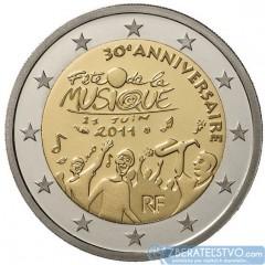 Francúzsko - 2 Euro 2011 - Sviatok hudby
