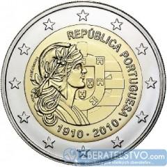 Portugalsko - 2 Euro 2010 - Výročie republiky