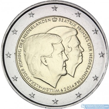 Holandsko - 2 Euro 2014 - Oficiálna rozlúčka s bývalou kráľovnou Beatrix