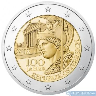 Rakúsko - 2 Euro 2018 - 100. výročie vzniku Rakúskej republiky