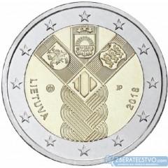 Lotyšsko - 2 Euro 2018 - 100 rokov nezávislosti pobaltských krajín