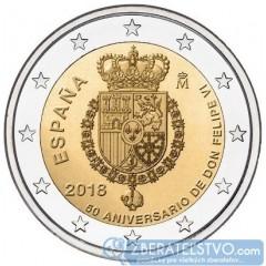 Španielsko - 2 Euro 2018 - 50. narodeniny Kráľa Filipa VI.
