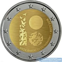 Estónsko - 2 Euro 2018 - 100. výročie Estónskej republiky