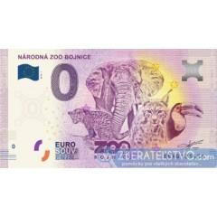 0 Euro Souvenir Slovensko 2018 Národná ZOO Bojnice