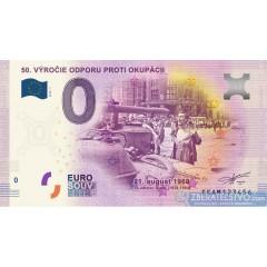 0 Euro Souvenir Slovensko 2018-1 - 50. výročie odporu proti okupácii
