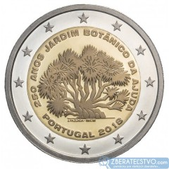 Portugalsko - 2 Euro 2018 - Botanická záhrada Ajuda